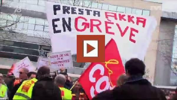 Reportage TV FIL 78 - Grève AKKA Guyancourt-Gershwin - 28 février 2014