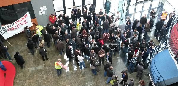 Grève AKKA - Guyancourt-Gershwin - 28 février 2014