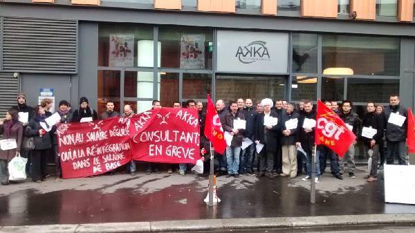 Grève AKKA - Lyon-Vaise - 28 février 2014