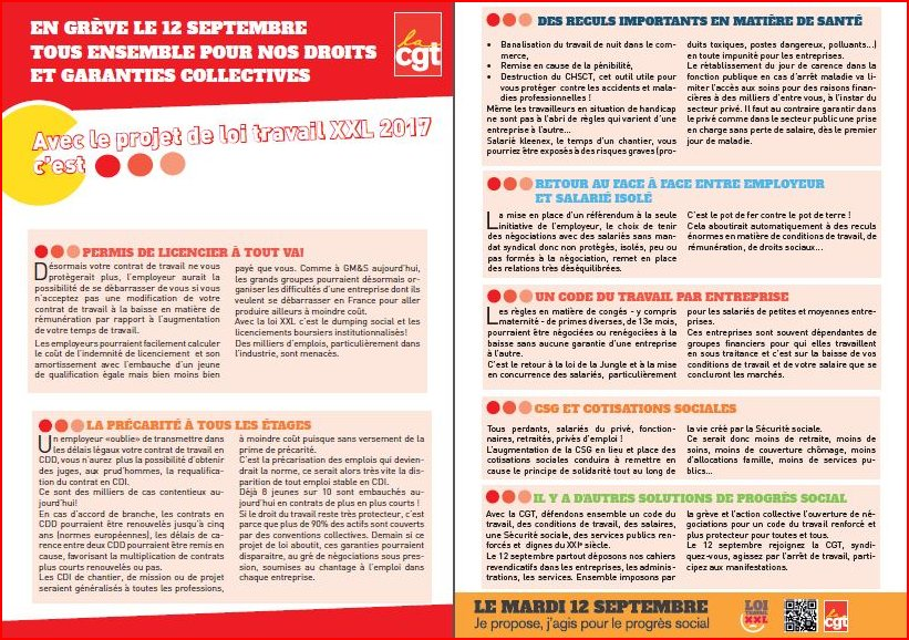 Tract CGT 12 septembre